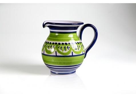 Brocca cm.16 fantasia blu e verde chiaro
