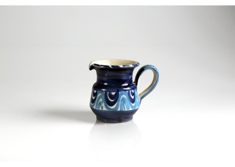 Brocca cm.14 fantasia blu e turchese