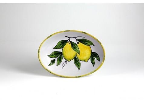 Ovale cm.30 limone fondo bianco