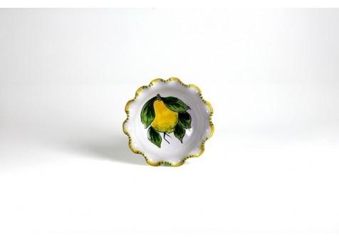 Coppa orlata cm.13 limone fondo bianco