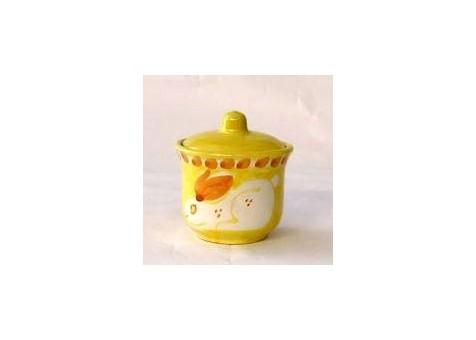Zuccheriera coniglio fondo giallo