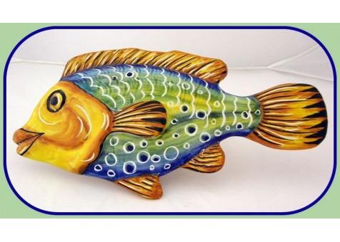 Pesce murale fantasia verde
