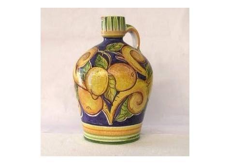 Bottiglia bombata con 1 manico arance e limonii