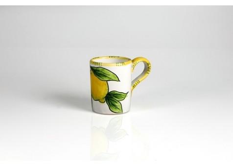 Bicchiere cm.8 limone fondo bianco