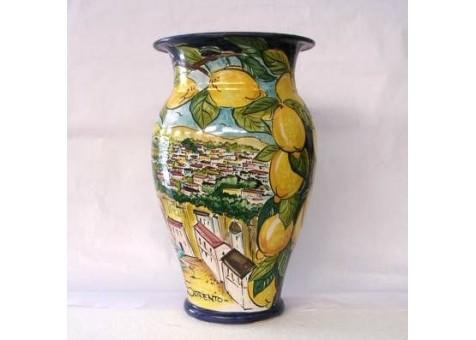 Portombrelli bombato con Paesaggio di Sorrento e limoni