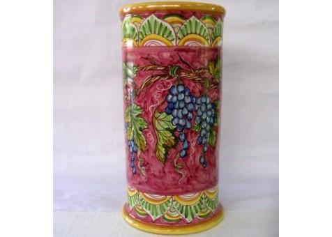 Portombrelli cilindrico uva fondo rosso