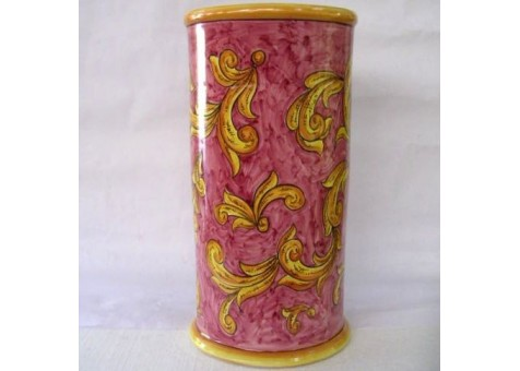 Portombrelli cilindrico barocco rosso