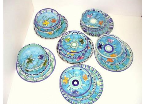Servizio di piatti ceramica artistica sorrentina for Servizio di piatti