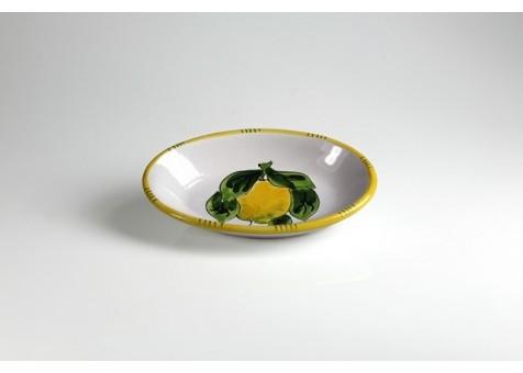 Ovale cm.22 limone fondo bianco