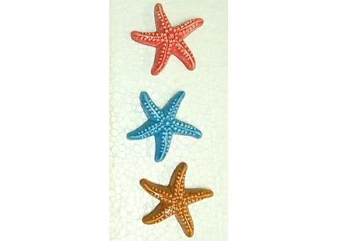 Set stelle marine con calamiti ceramica artistica sorrentina