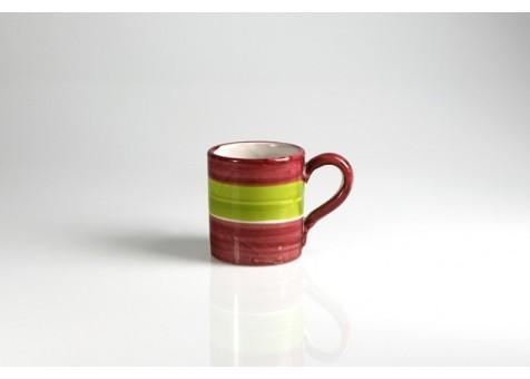 Bicchiere cm.8 fantasia rosso e verde