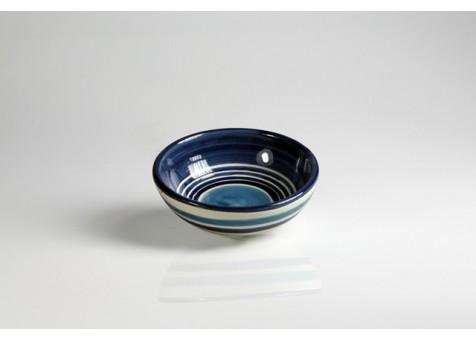 Coppa cm.13 fantasia blu e turchese