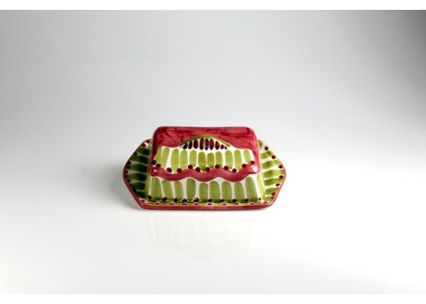 Burriera rettangolare fantasia rosso e verde