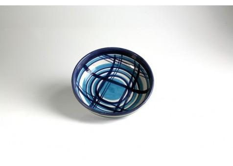 Coppa cm.23 fantasia blu e turchese