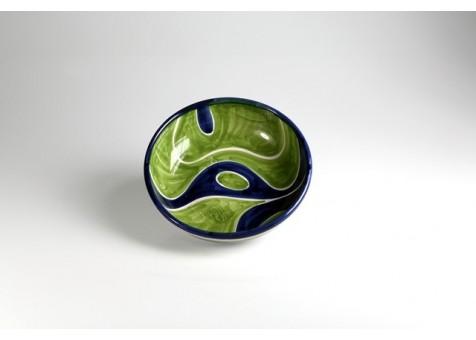 Coppa cm.18 fantasia blu e verde chiaro