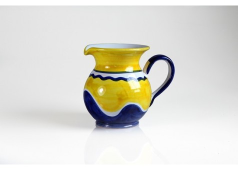 Brocca cm. 16 fantasia blu e giallo