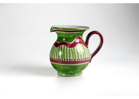 Brocca cm.16 fantasia verde chiaro e rosso